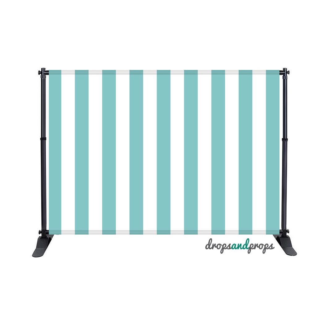 Aqua Sky Vertical Stripes Photography Backdrop