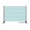 Aqua Sky Chevron Photography Backdrop