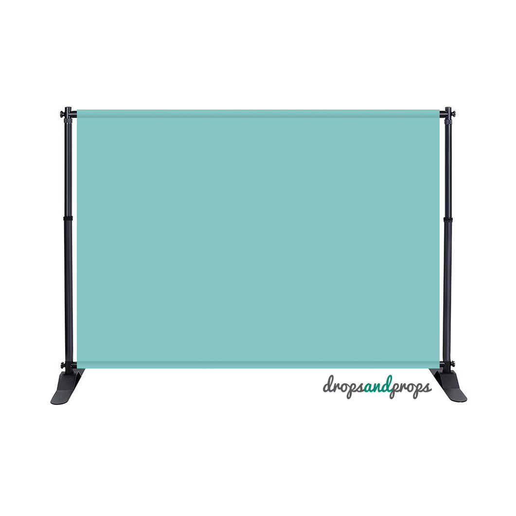 Aqua Sky Solid Photography Backdrop