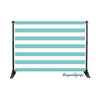 Aqua Sky Striped Photography Backdrop
