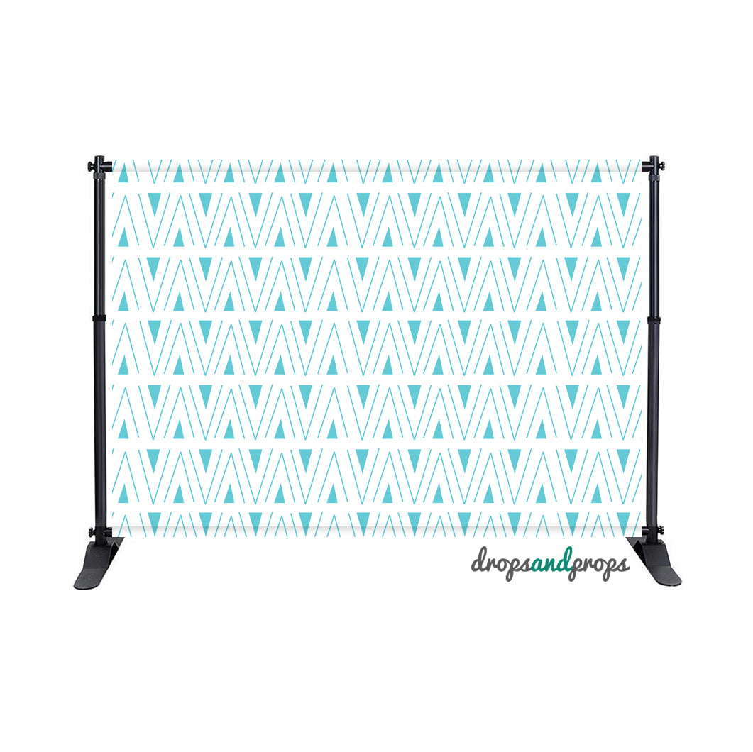 Aqua Sky Tribal Photography Backdrop