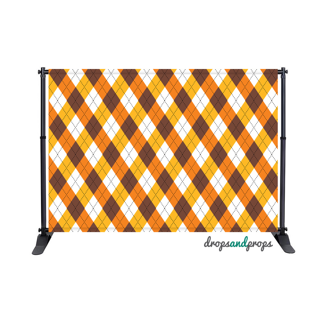 Autumn Argyle Photography Backdrop