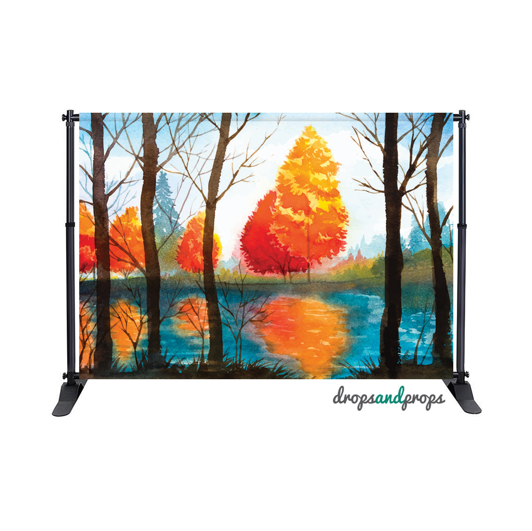 Autumn on Fire Photography Backdrop