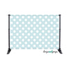 Baby Blue Polka Dots Photography Backdrop