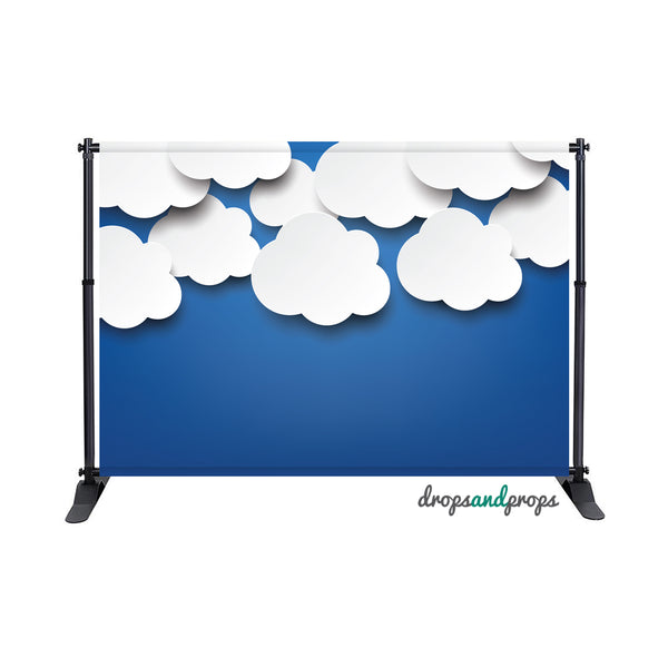 Baby Clouds Photography Backdrop