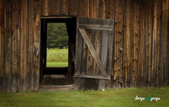 Barn with Side Door Photography Backdrop