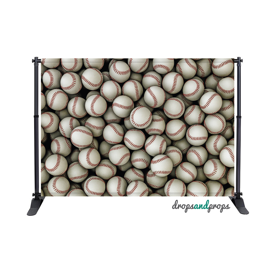Baseballs Photography Backdrop