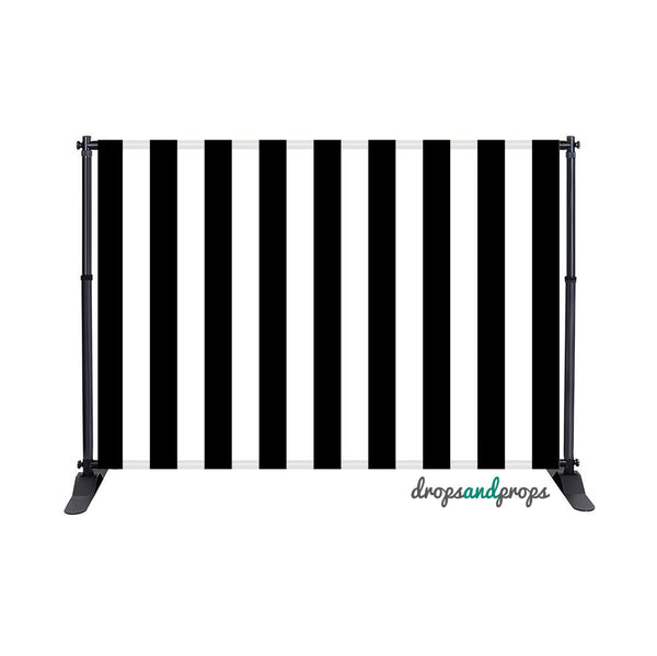 Black Vertical Stripes Photography Backdrop