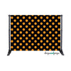 Black & Orange Polka Dots Photography Backdrop
