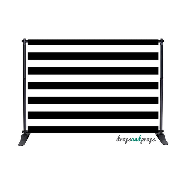 Black Striped Photography Backdrop