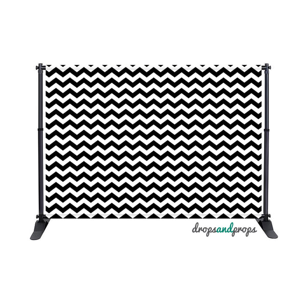 Black & White Chevron Photography Backdrop