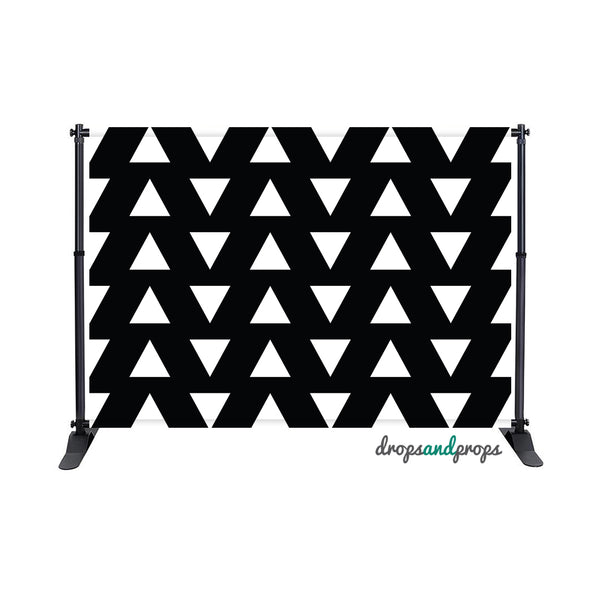 Black & White Triangles Photography Backdrop