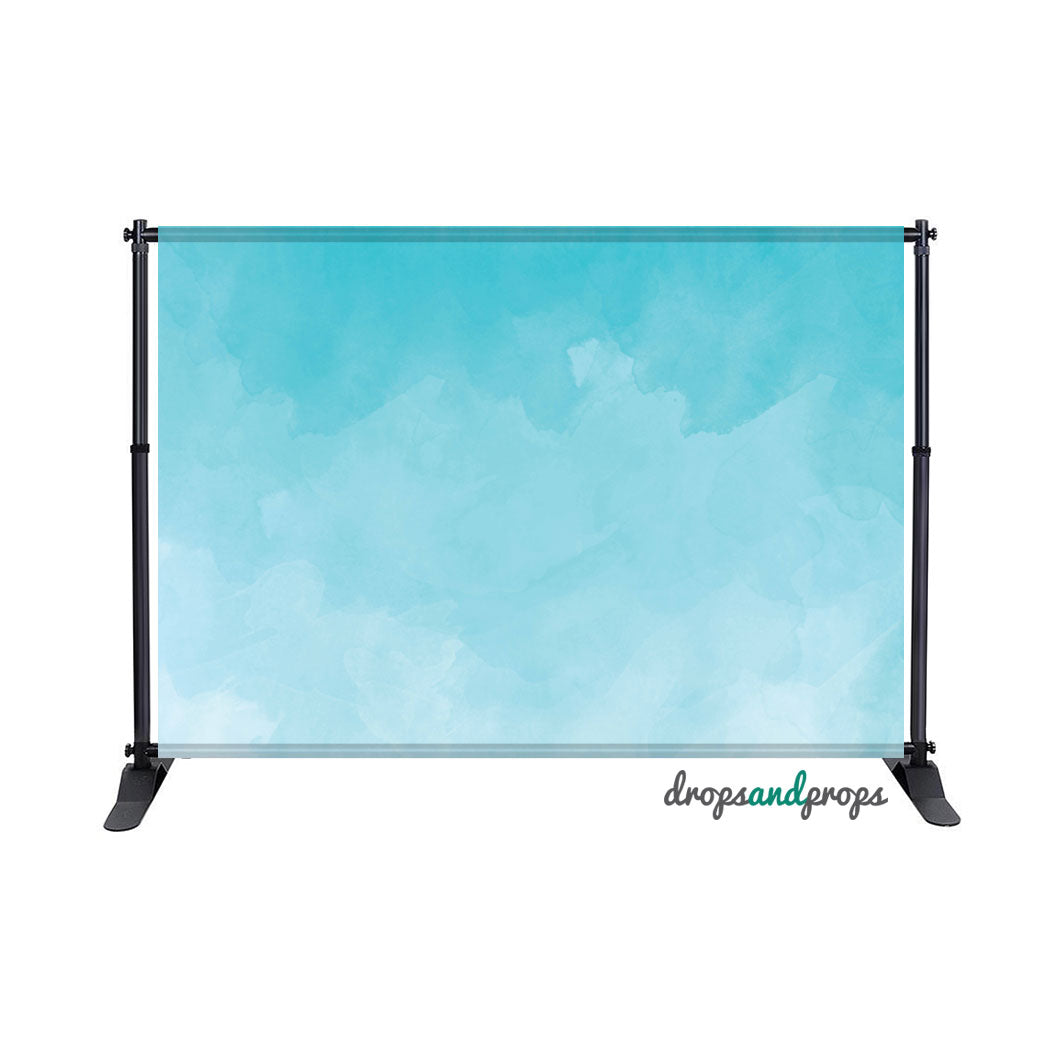 Blue Watercolor Photography Backdrop