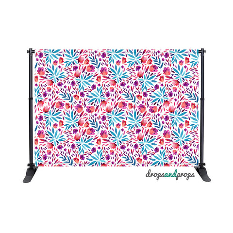 Brittany Floral Photography Backdrop
