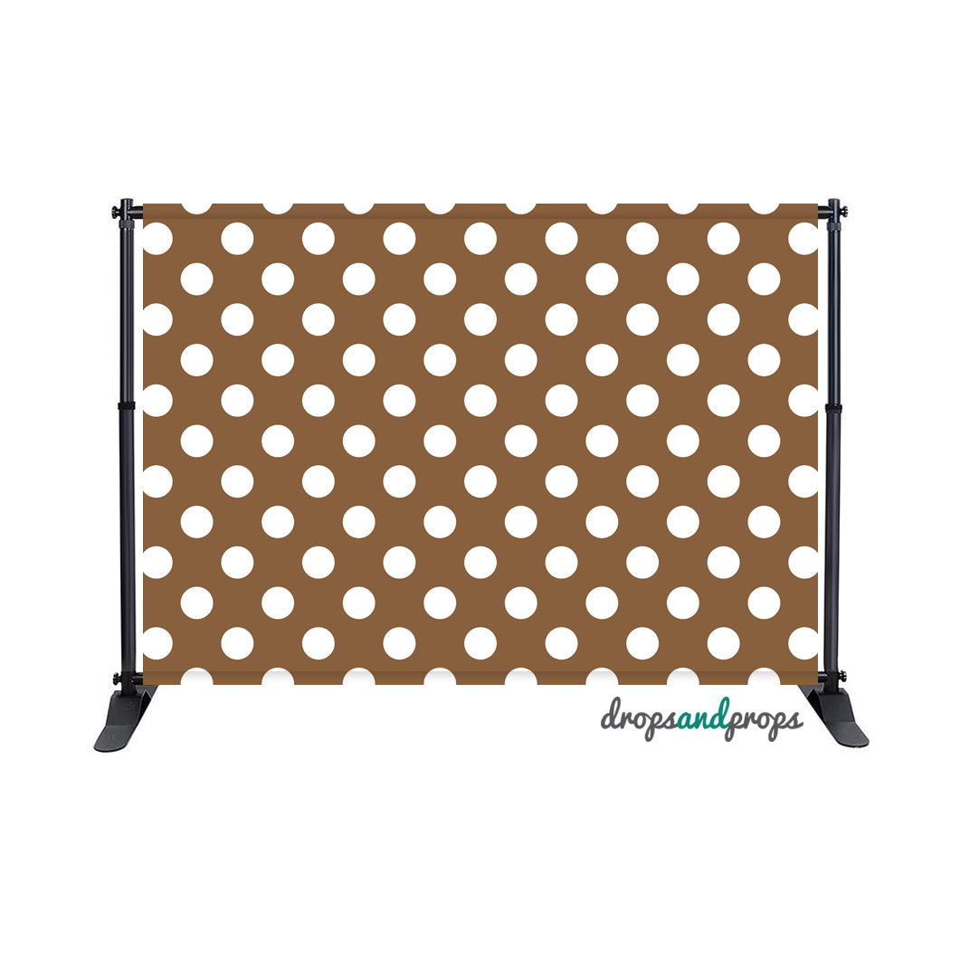 Brown Polka Dots Photography Backdrop