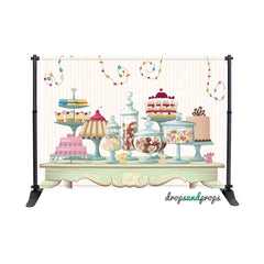 Candy Table Photography Backdrop