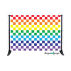 Checkered Rainbow Photography Backdrop