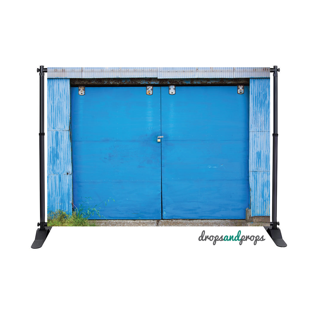 Cobalt Blue Door Photography Backdrop