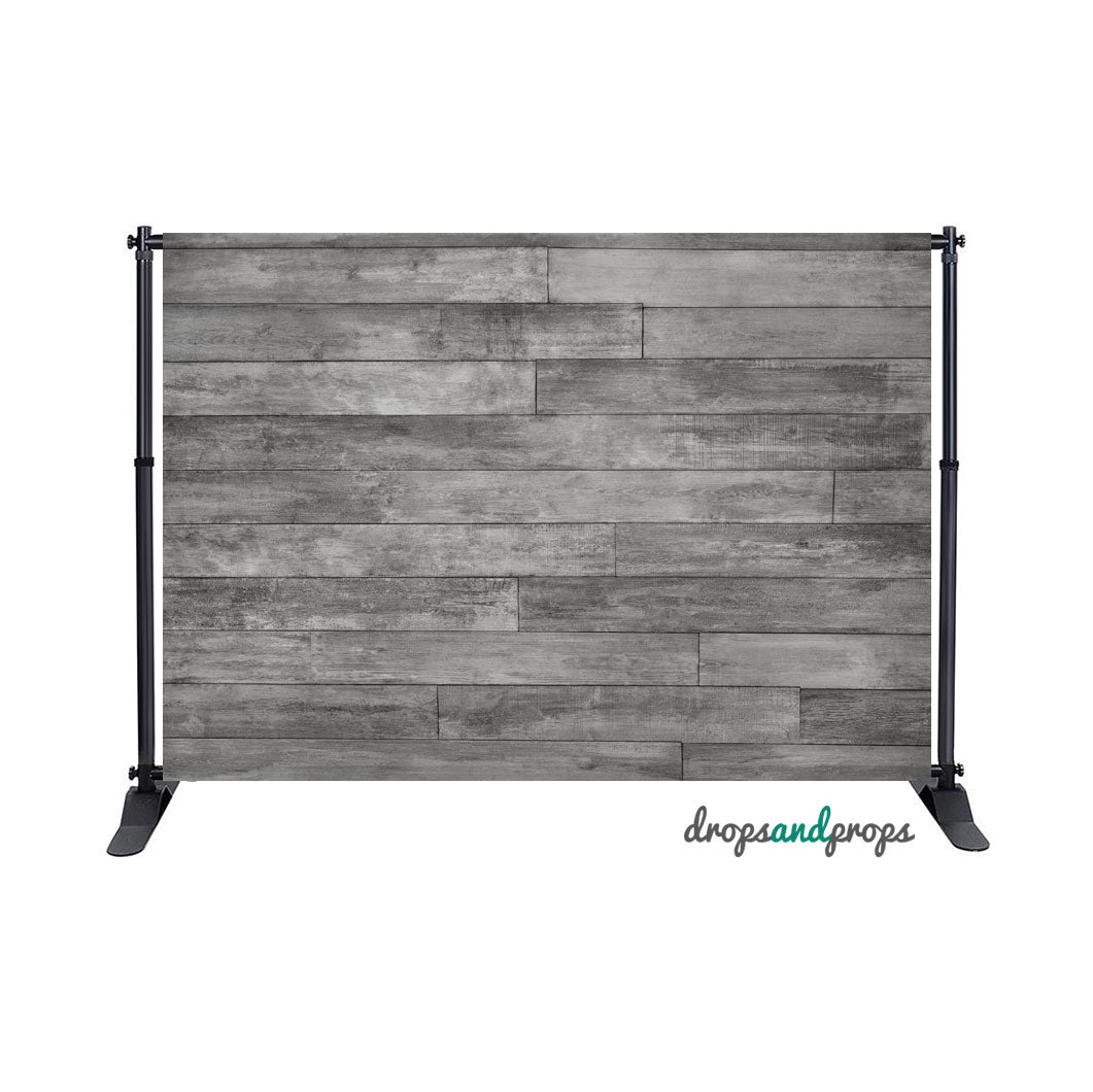 Cool Gray Planks Photography Backdrop
