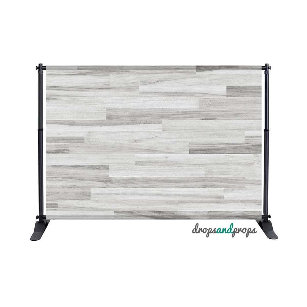 Cool White Hardwood Floor Photography Backdrop