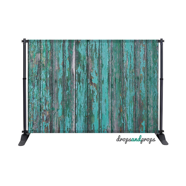 Destroyed Teal Wood Photography Backdrop