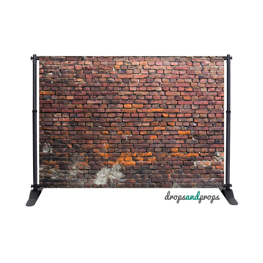 Distressed Brick Wall Photography Backdrop