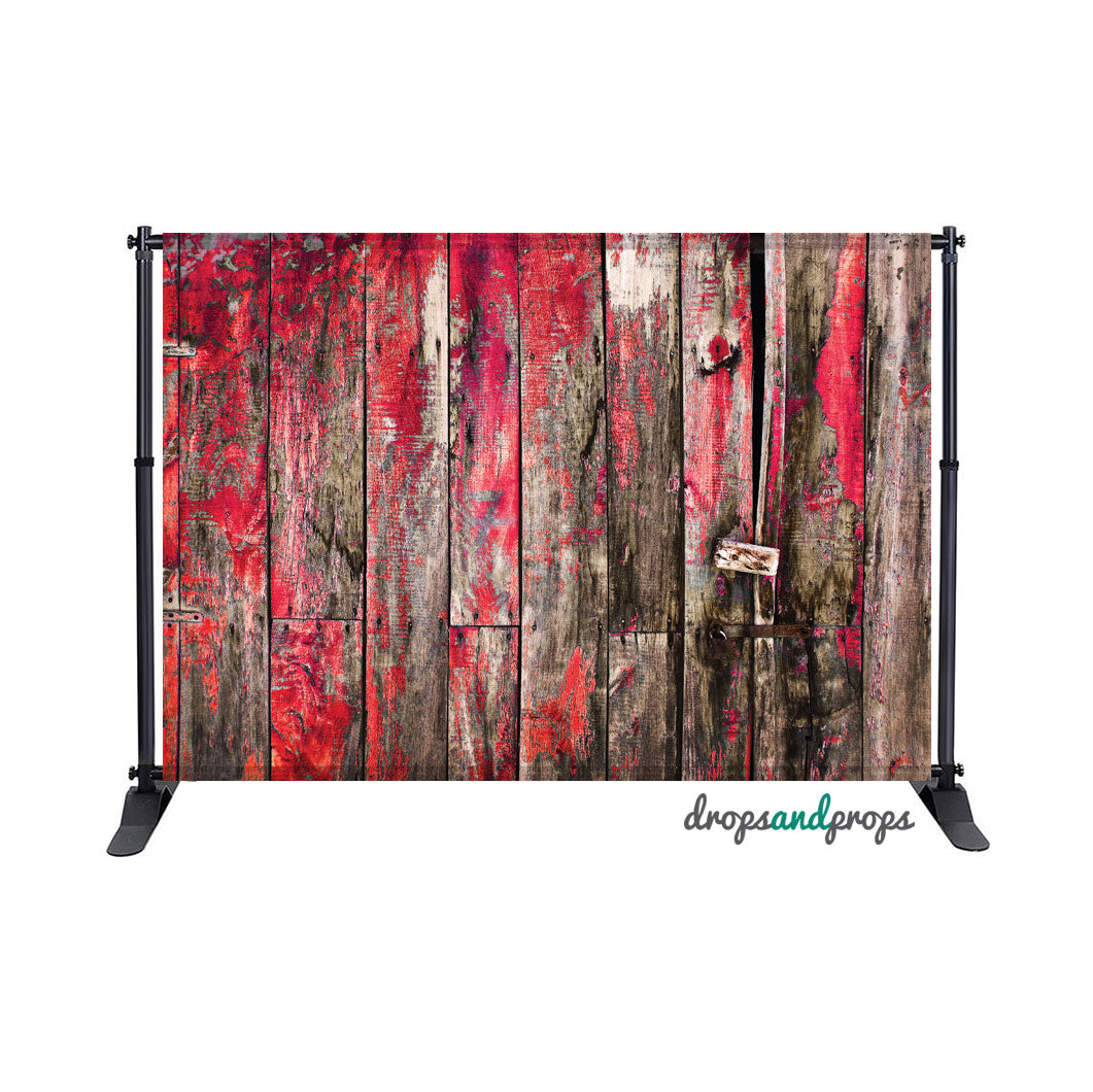 Distressed Red Wood Photography Backdrop