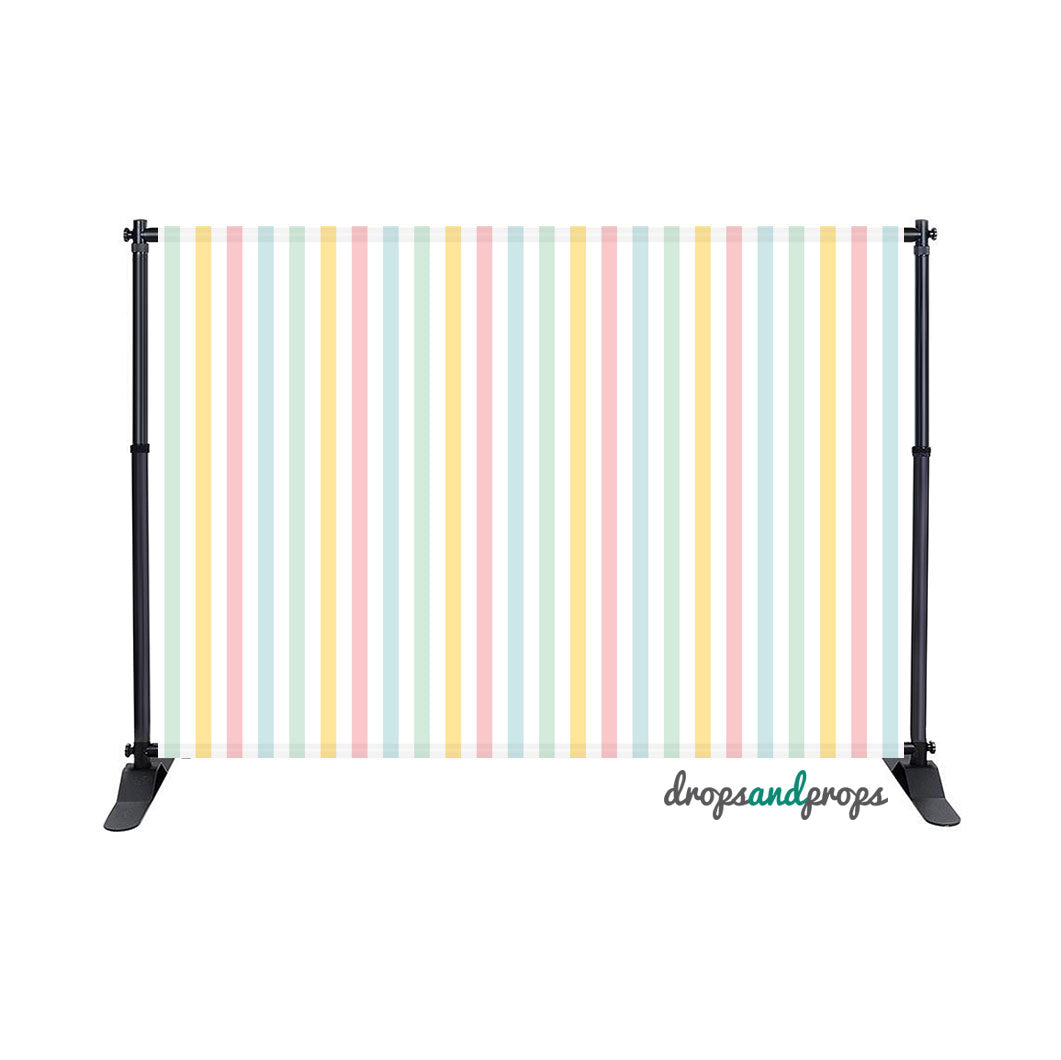 Easter Stripes Photography Backdrop