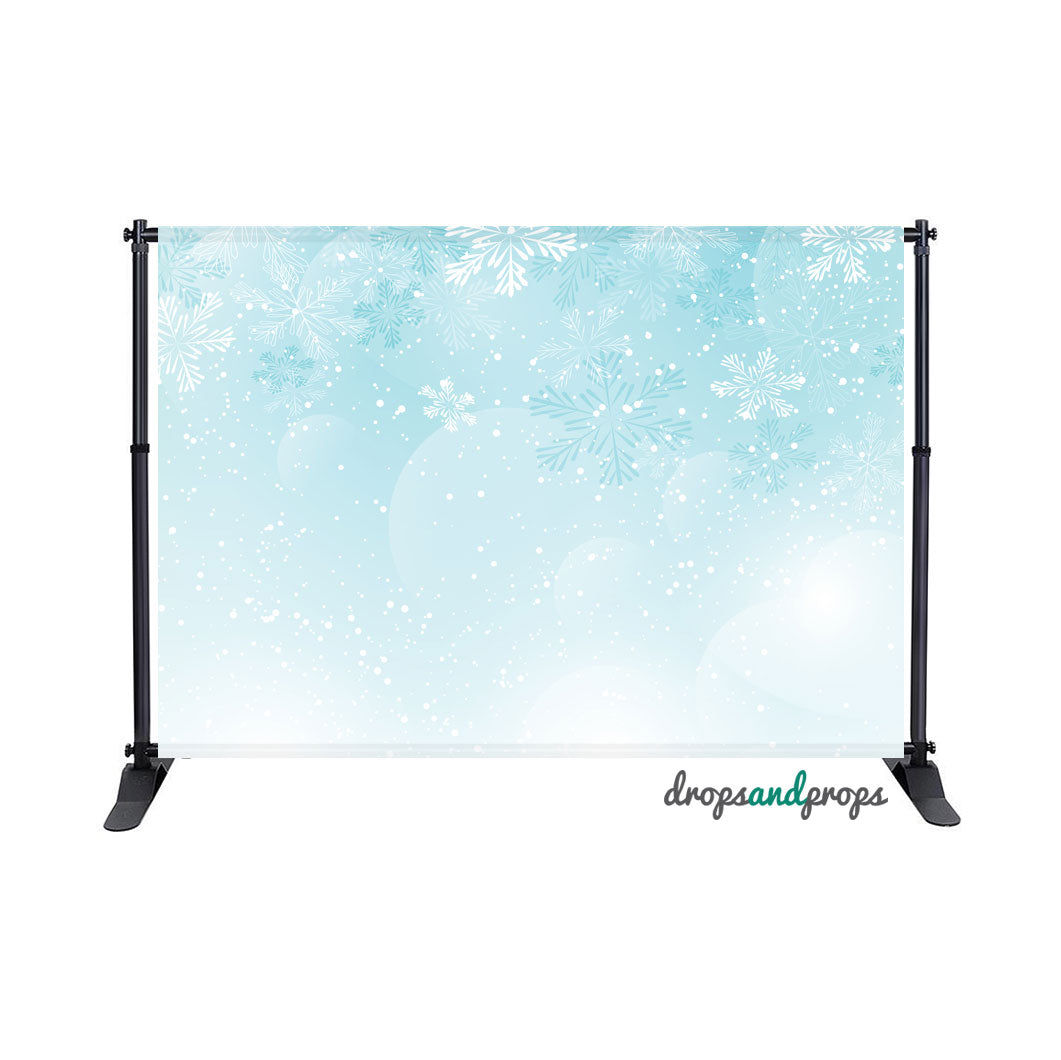 Frozen Snowflakes Photography Backdrop