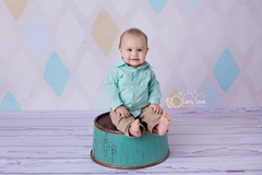 Distressed White Wood Photography Backdrop