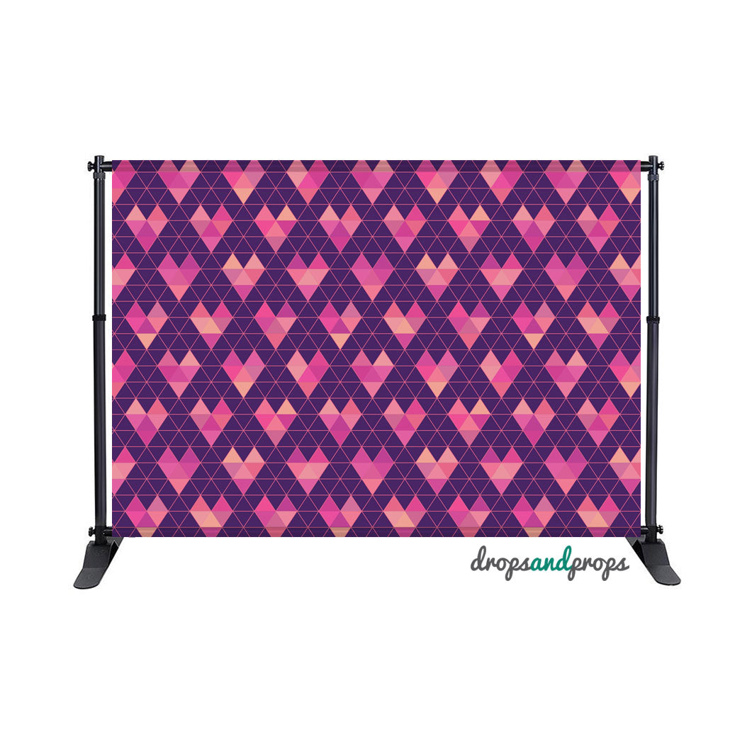 Geometric Hearts Photography Backdrop