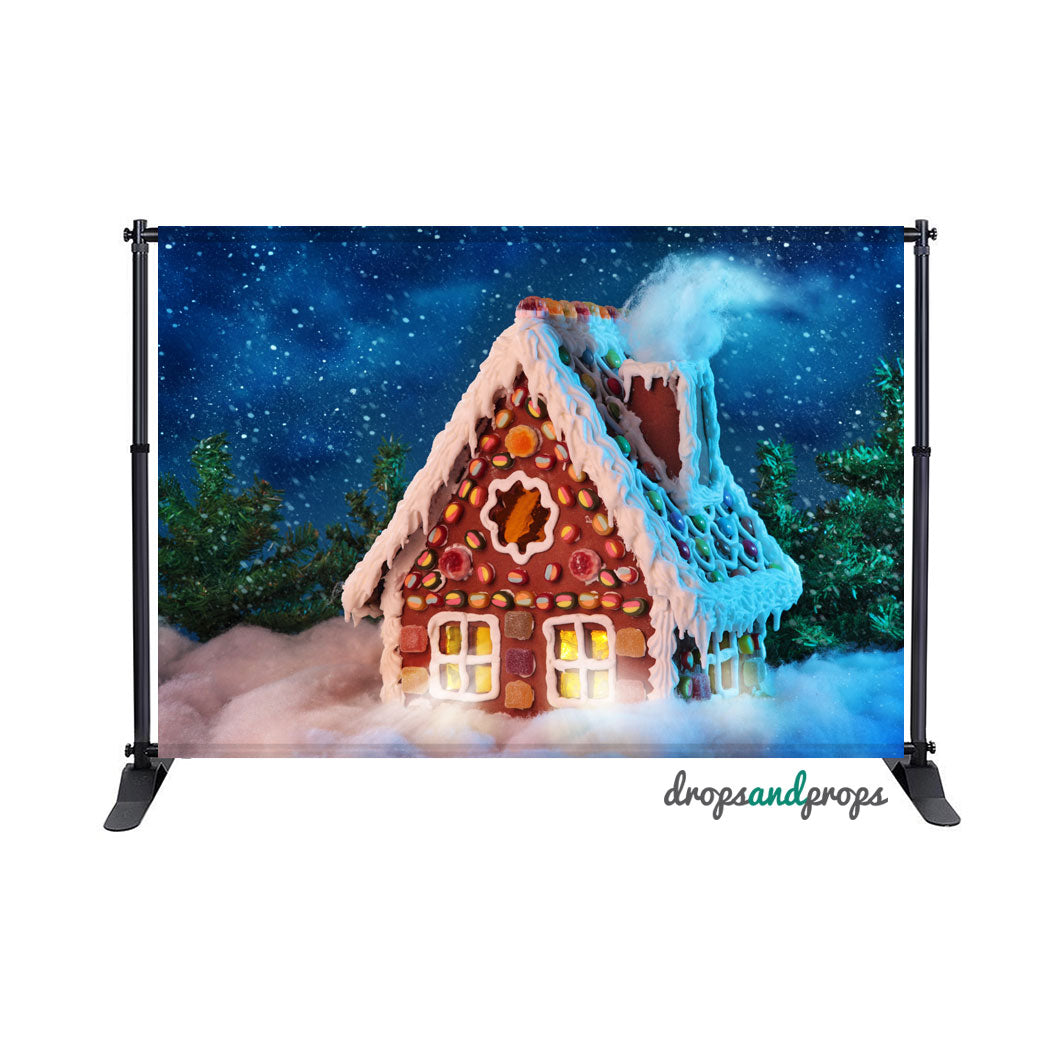 Gingerbread House Photography Backdrop
