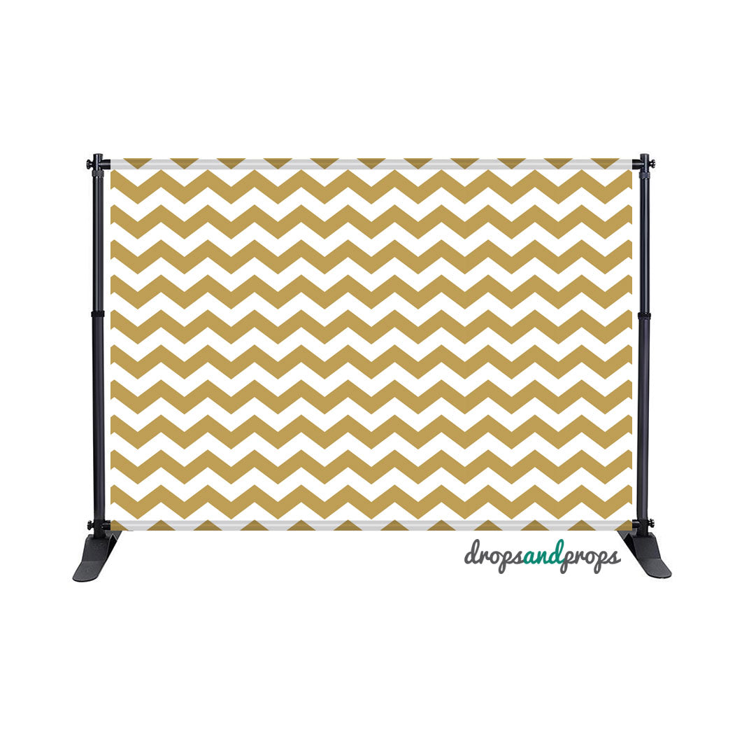 Gold Chevron Photography Backdrop