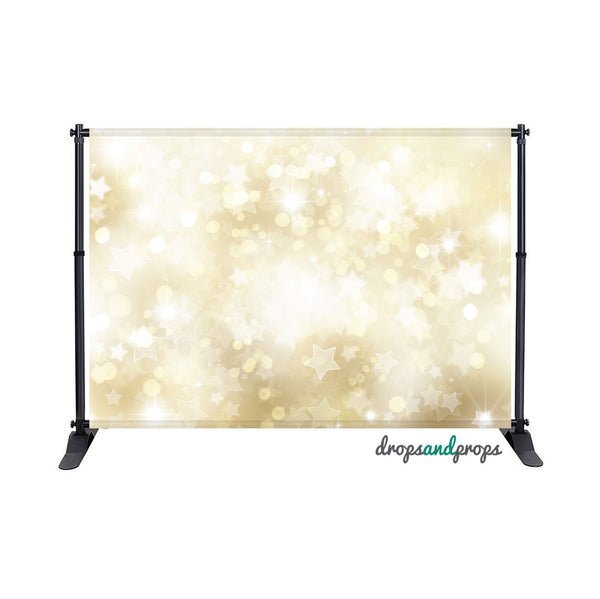 Gold Star Bokeh Photography Backdrop