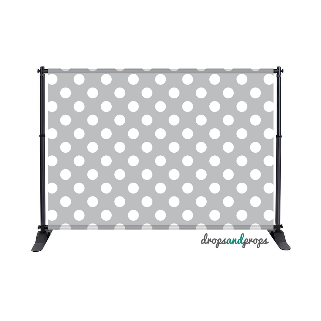 Gray Polka Dots Photography Backdrop