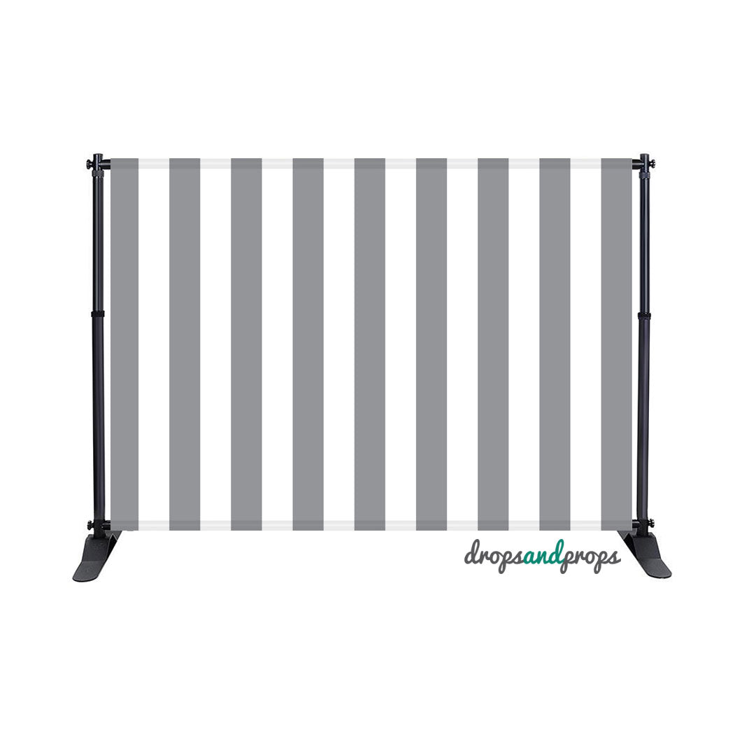 Gray Vertical Stripes Photography Backdrop