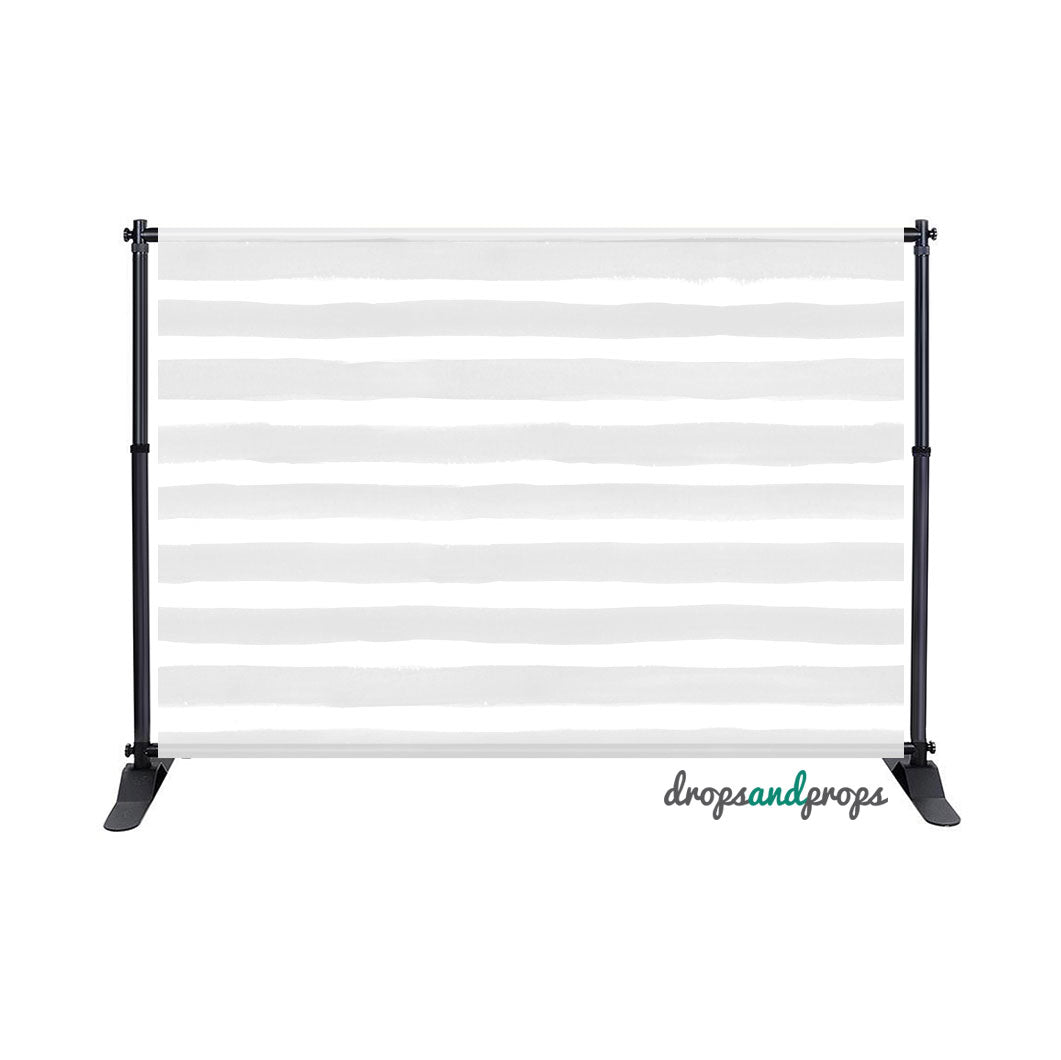 Gray Watercolor Stripes Photography Backdrop