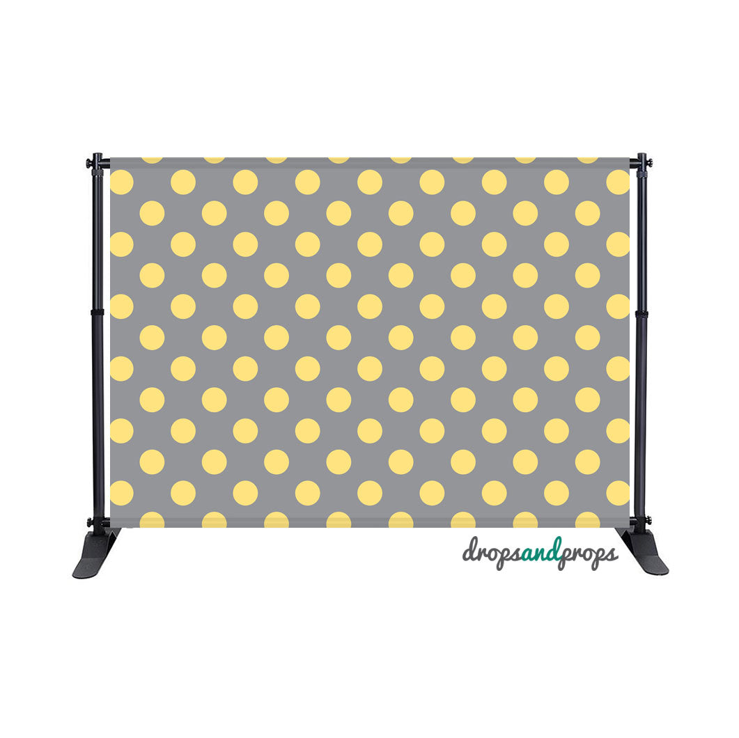 Gray & Yellow Polka Dots Photography Backdrop