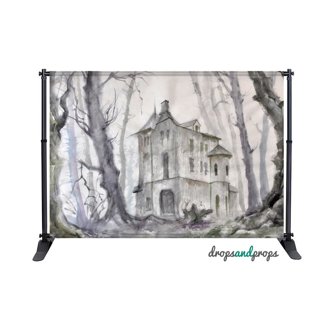 Haunted Castle Photography Backdrop