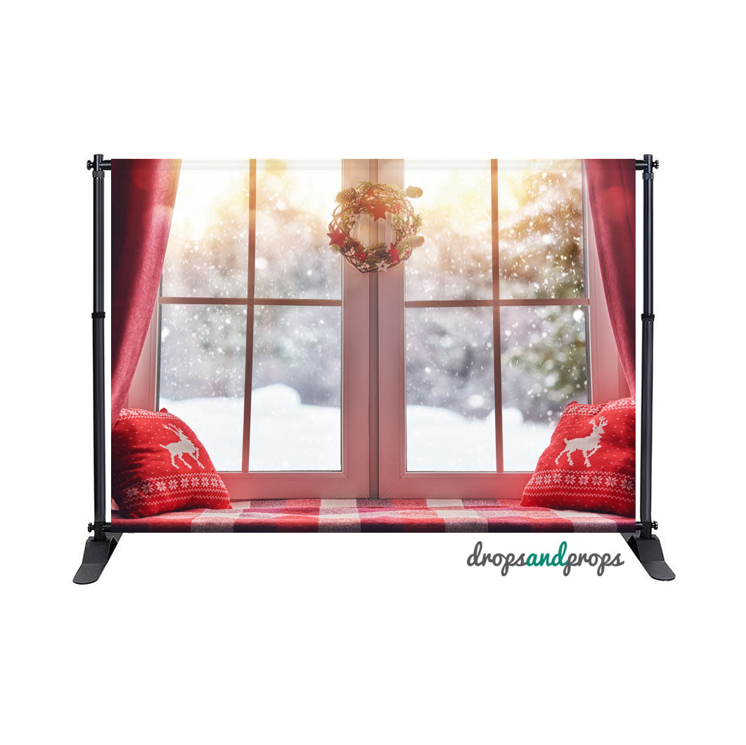 Holiday Window Nook Photography Backdrop