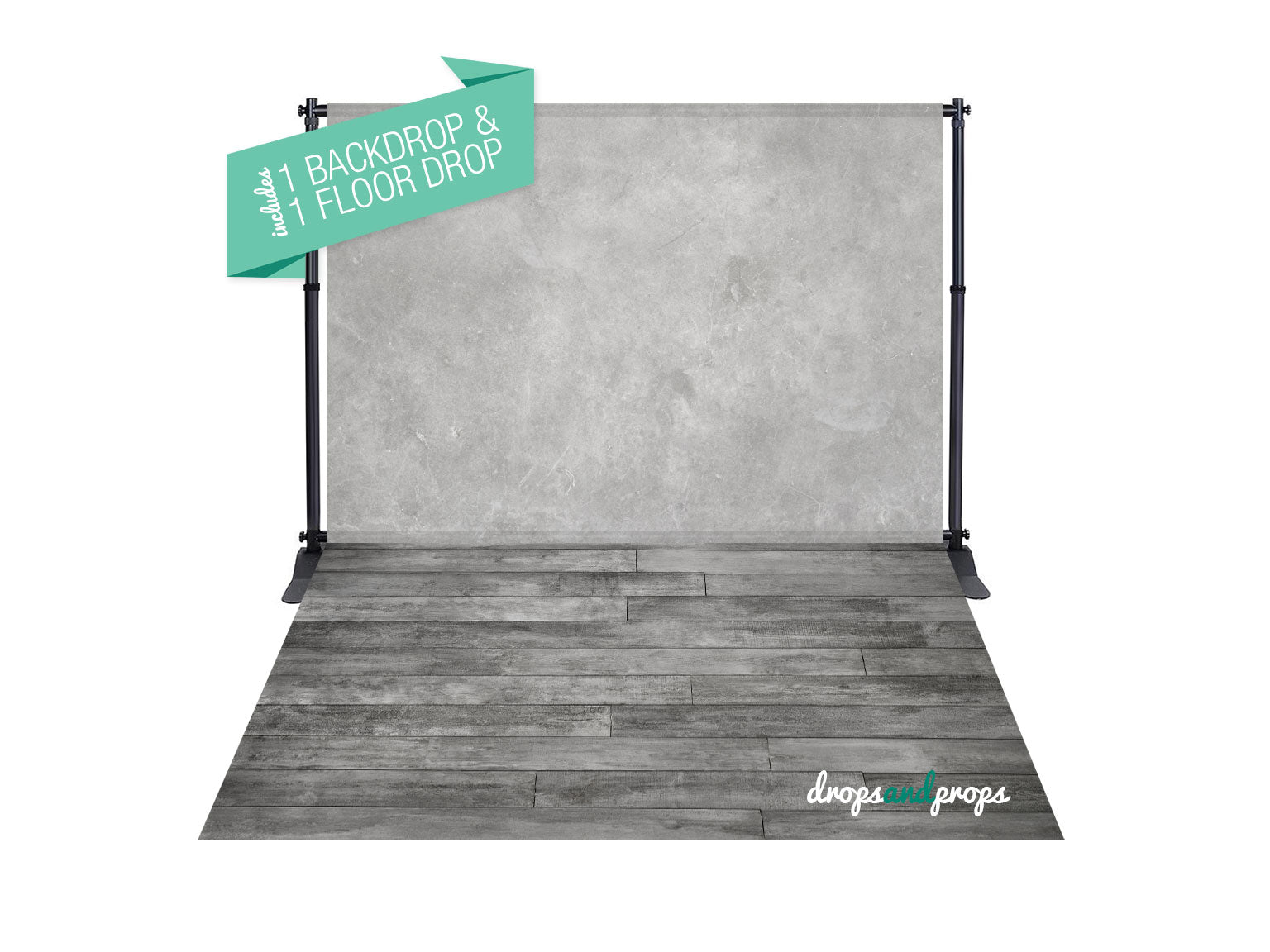 Hudson Gray & Cool Gray Planks Photography Backdrop Combo