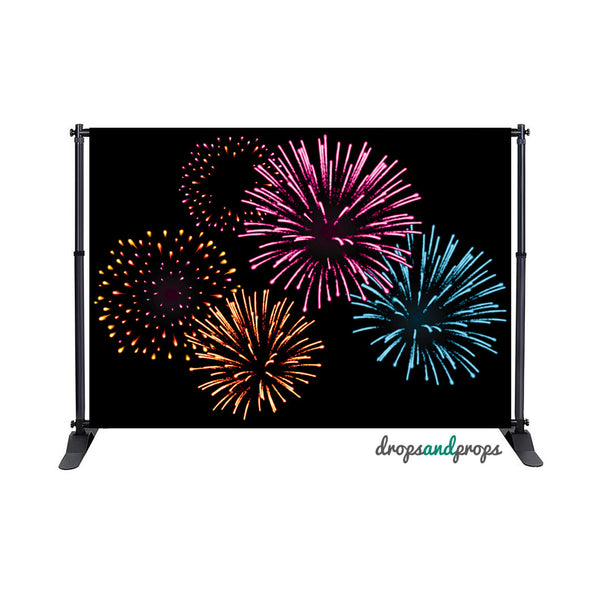 July Fireworks Photography Backdrop