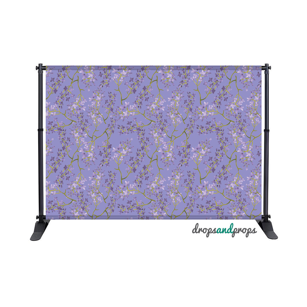 Lilac Floral Photography Backdrop