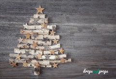 Little Christmas Tree Photography Backdrop