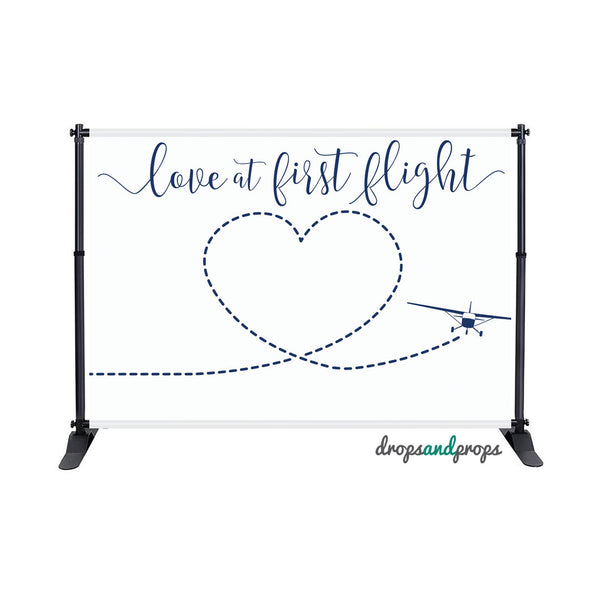 Love at First Flight Photography Backdrop