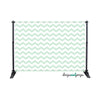 Mint Chevron Photography Backdrop