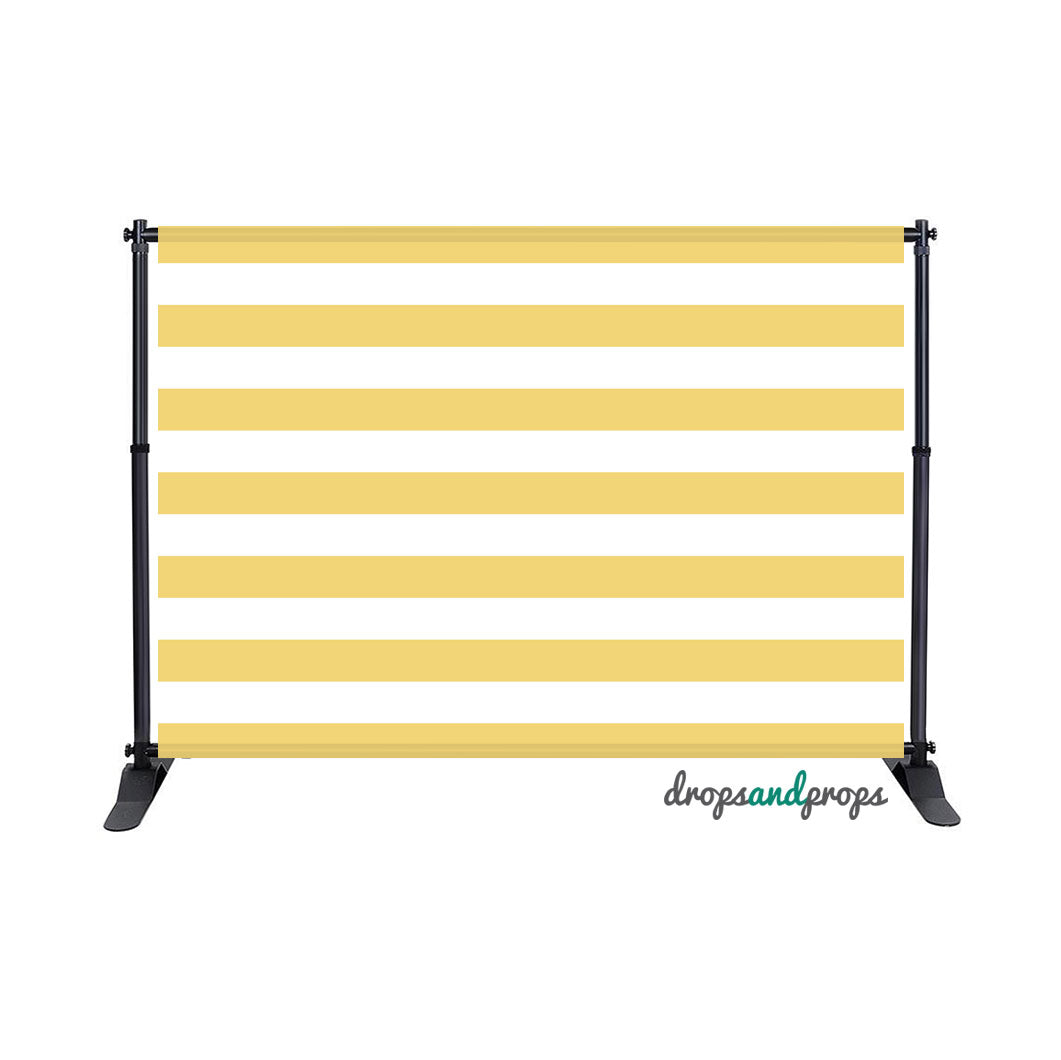 Mustard Striped – Photography Backdrop