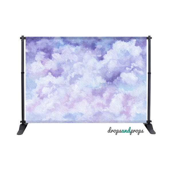 Mystical Watercolor Clouds Photography Backdrop