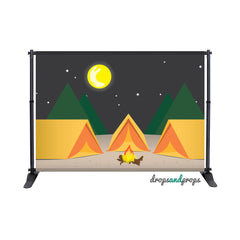 Night Camping Photography Backdrop