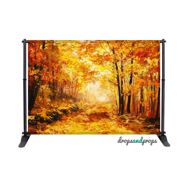 Oil Painted Fall Photography Backdrop